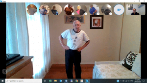 Image of Cultural Group Qigong Class using Skype